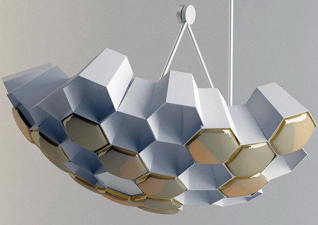 蜂巢造型的吊灯 奢华时尚设计感十足