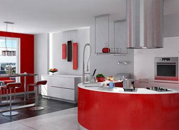 小户型开放式厨房装修效果图-专为小户型设计 15款开放式厨房效果图