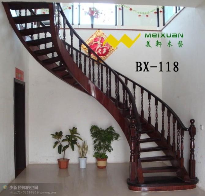 红木楼梯扶手图片价格