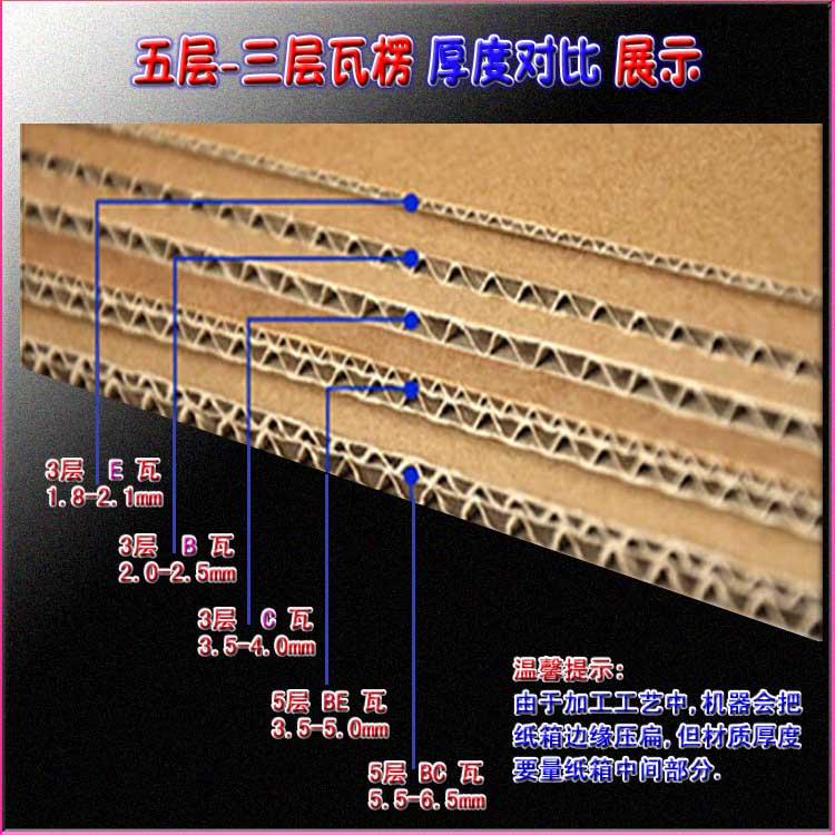 3层-5层瓦楞材质厚度对比实图