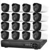 安尼威尔网络硬盘录像机POE+NVR模拟监控摄像机组合接入