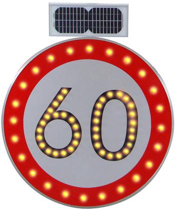 圆形太阳能限速标志牌图片
