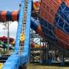 太空盘滑梯皮筏提升输送机水上乐园滑梯定制安装