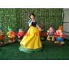 白雪公主与小矮人雕塑玻璃钢卡通雕塑玻璃钢雕塑