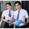 江门厂家衬衫短袖白色男女同款职业装衬衣夏季工作制服