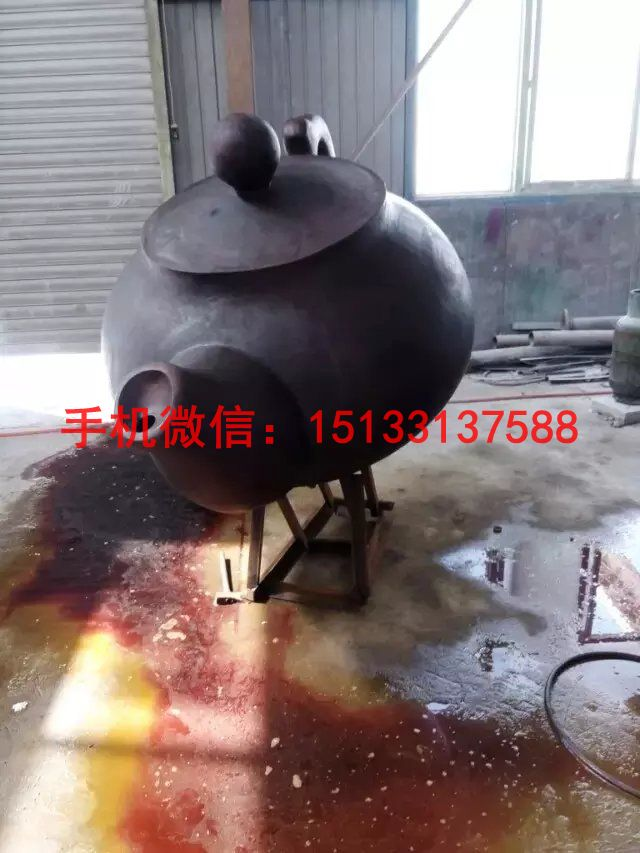 茶壶铜雕塑 广场茶壶雕塑