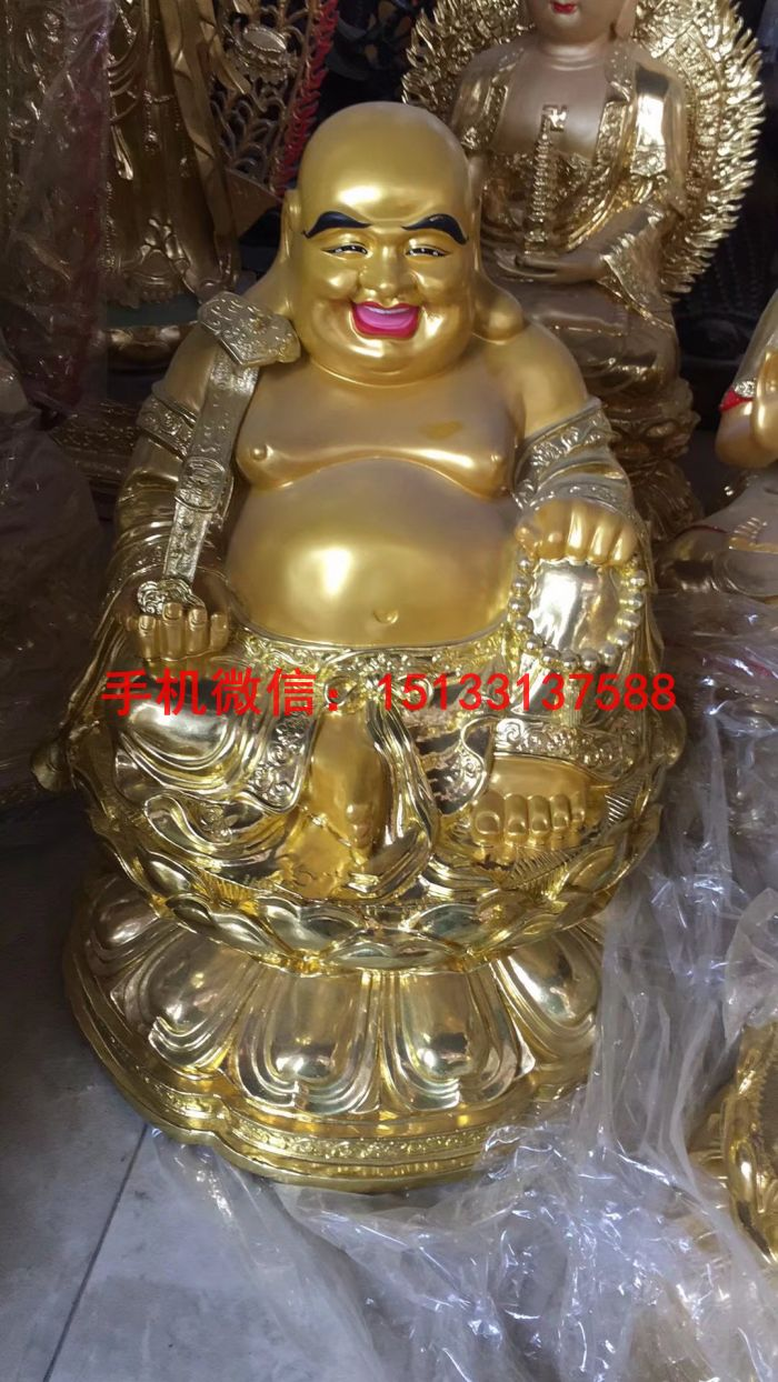 纯黄铜弥勒佛铜佛像
