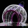 大型铁艺圣诞球拱门圣诞节拱门布置铁艺圣诞球造型