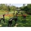 现代园林景观玻璃钢抽象小鹿雕塑,环球玻璃钢雕塑制作厂家