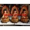 带背光三世佛佛像,坐像带背光三世佛佛像