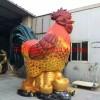 玻璃钢大公鸡雕塑,仿真玻璃钢大公鸡雕塑