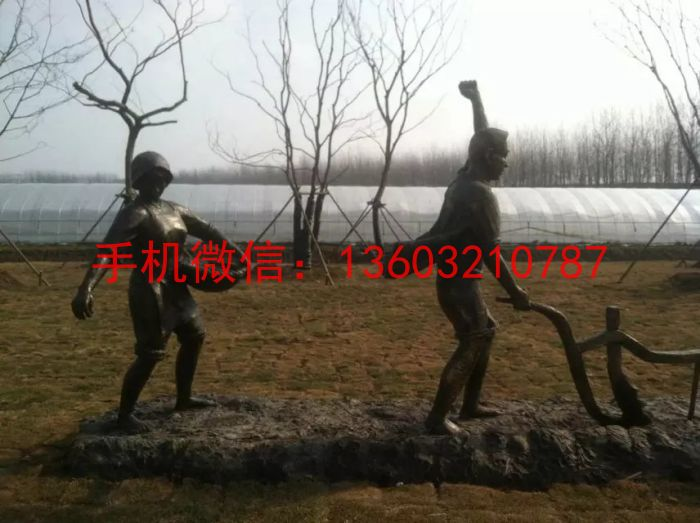 种地铜雕塑 农民铜雕塑