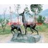 小鹿雕塑,动物铜雕塑,石家庄铜雕塑厂家