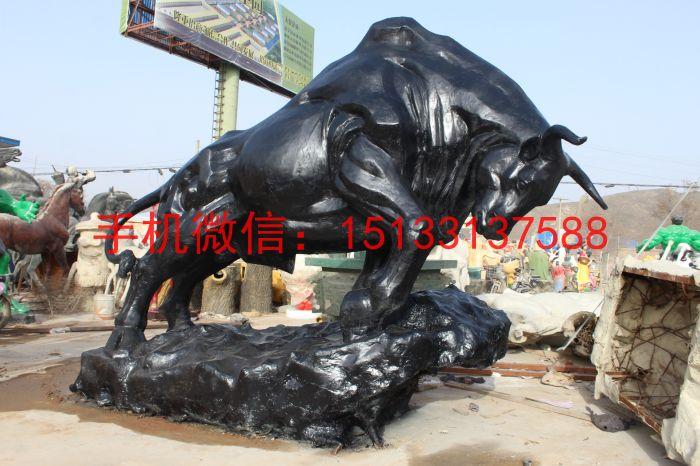 铜雕开荒牛雕塑 动物铜雕塑厂家制作