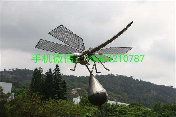 白钢不锈钢蜻蜓雕塑
