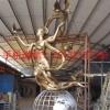 长沙不锈钢仿铜人物雕塑,校园仿铜人物飞跃雕塑