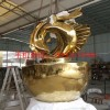 贵阳不锈钢金鱼雕塑,企业招财鱼不锈钢雕塑厂家