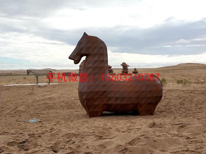 马抽象不锈钢雕塑2