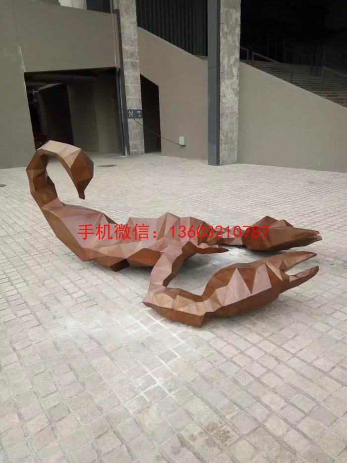 不锈钢锻造蝎子雕塑1