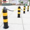 黑黄红白钢管警示柱