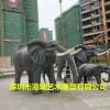 户外风水招财镇宅门口树脂动物玻璃纤维大象雕塑生产工厂