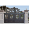 厂家佛山市直供铝合金庭院门成都围墙铝艺大门农村铝合金庭院大门
