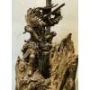 木雕批发销售古代人物素材木雕一体成型