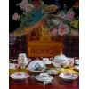 乐则手绘餐具套餐中式奢华宫廷孔雀骨瓷碗碟套装