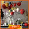 七夕情人节气氛布置商场DP道具玻璃钢气球