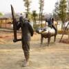 商场广场抽象铁艺仿真植物雕塑户外园林景观雕塑