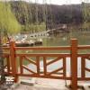 水泥仿木护栏围墙围栏景区河道公园菜园花坛护栏草坪绿化隔断